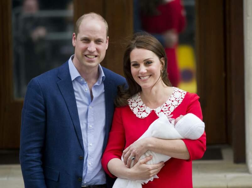 Kate Middleton a accouché de leur troisième enfant, le prince Louis