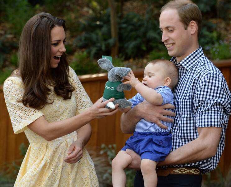 William, Kate et leur fils George au zoo de Sydney