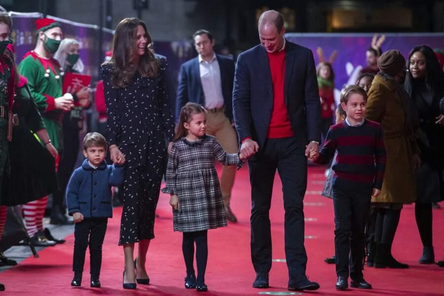 William, Kate et leurs trois enfants à Londres