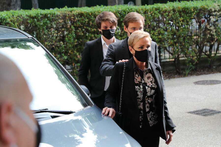 Karin Rénier et ses fils Oscar et Jules