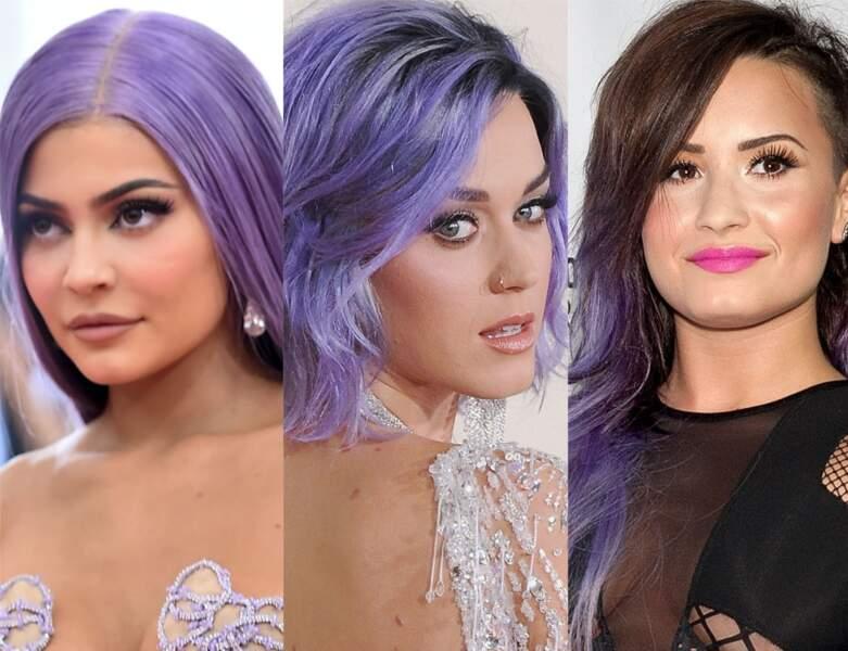 Cheveux violets : la nouvelle coloration tendance en 20 images