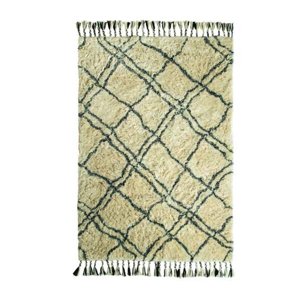 Tapis berbère en polyester et coton
