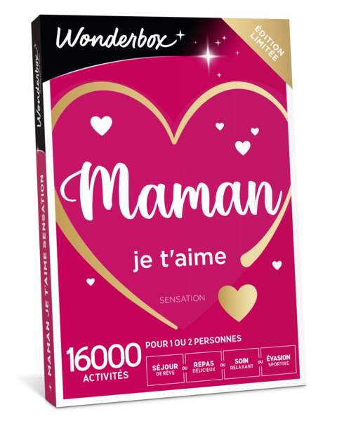 Coffret Maman je t'aime : Wonderbox