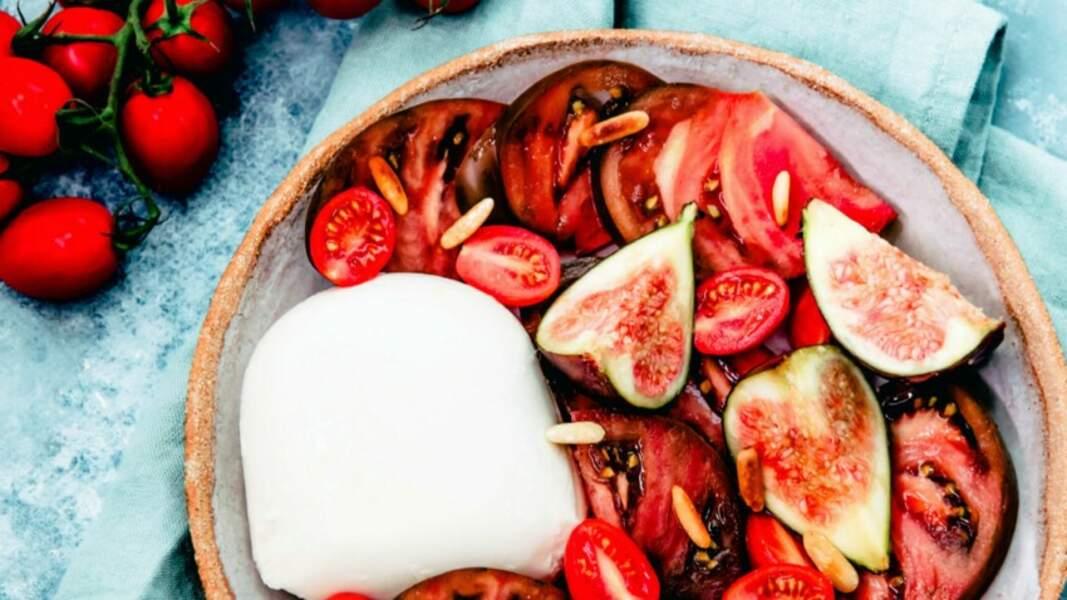 Mozzarella, tomates et figues