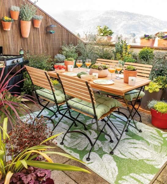 Décoration de balcon chaleureuse et naturelle - Botanic