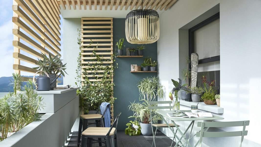 Balcon alliant convivialité et verdure - Leroy Merlin
