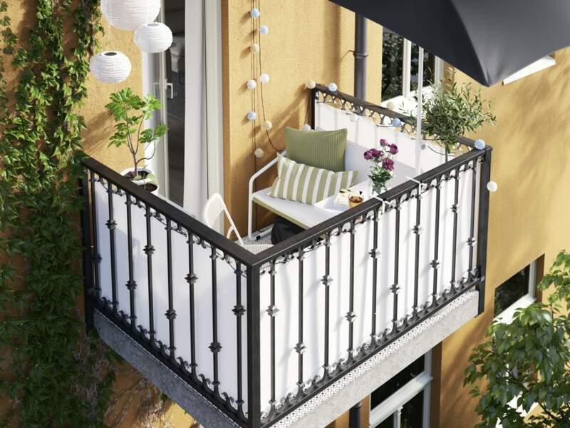 Petit balcon de ville ultra confort - Ikea