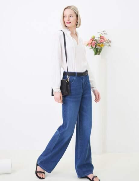 Mode 50 ans et plus : un jean flare