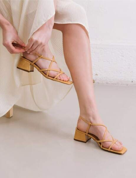 Mode 50 ans et plus : des sandales à talon carré