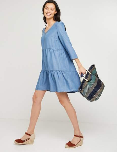 Mode 50 ans et plus : une robe fluide