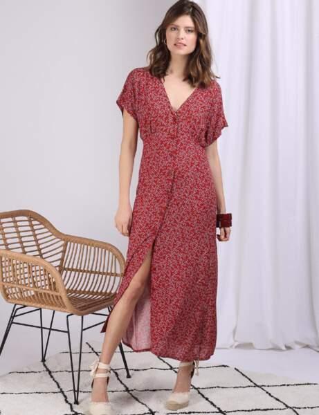 Mode 50 ans et plus :  une robe à fleurs