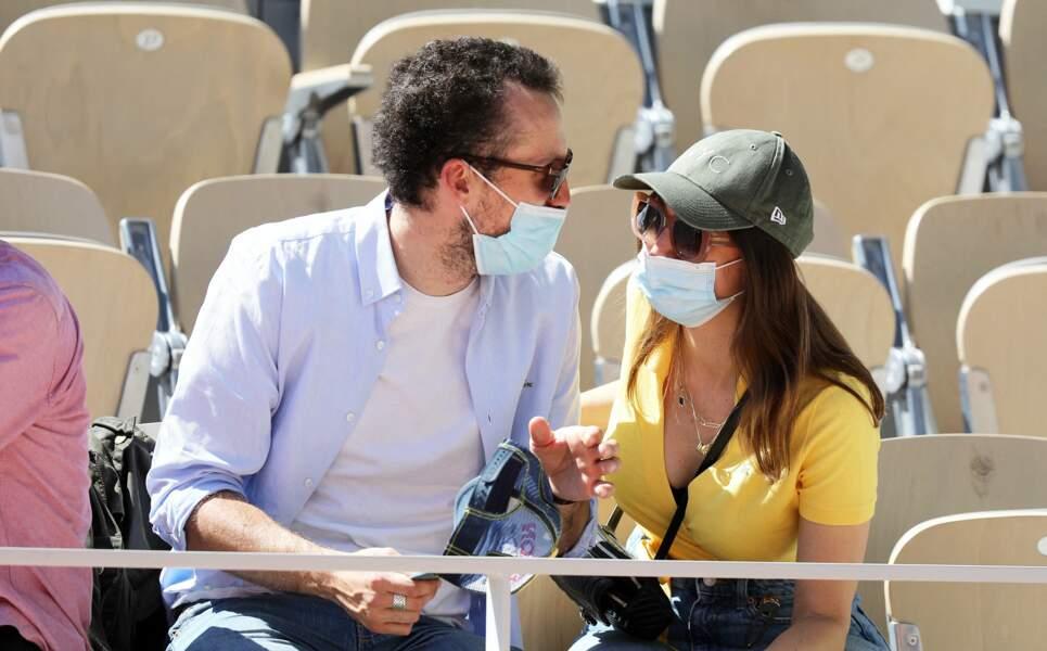 Alexandre Chière, membre du groupe Synapson, et la chanteuse Tessa B. (alias Marine Basset)