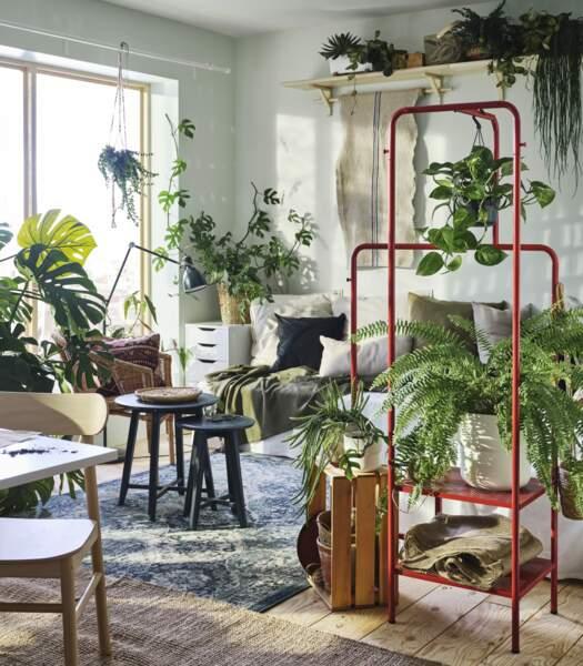 Déco de salon naturelle - Ikea