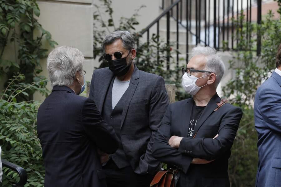 Olivier Minne à la sortie des obsèques de la journaliste Jacqueline Caurat