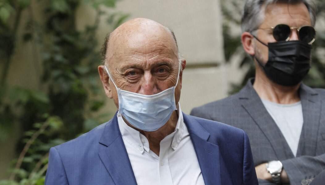 Pierre Bonte à la sortie des obsèques de la journaliste Jacqueline Caurat