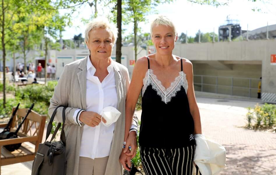 Muriel Robin et sa femme Anne Le Nen