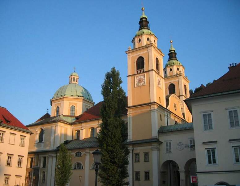 La cathédrale Saint-Nicolas à Ljubljana