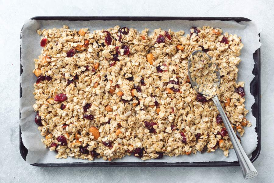 Granola au quinoa sésame et flocons d'avoine