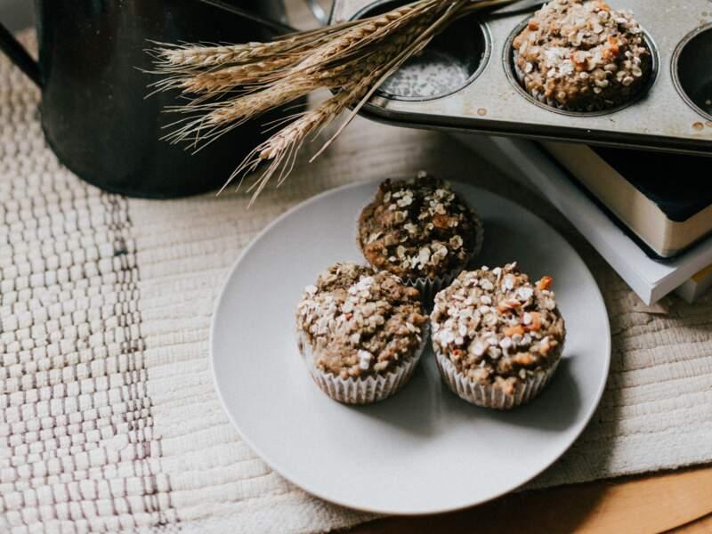 Muffins salés au potiron noix et flocons d'avoine