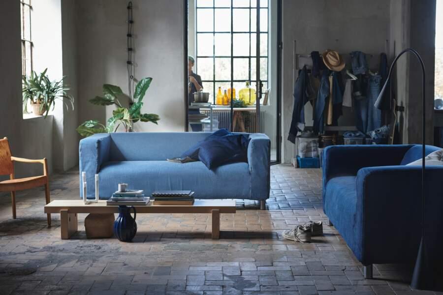 tendance industriel pour votre salon bleu - Ikea