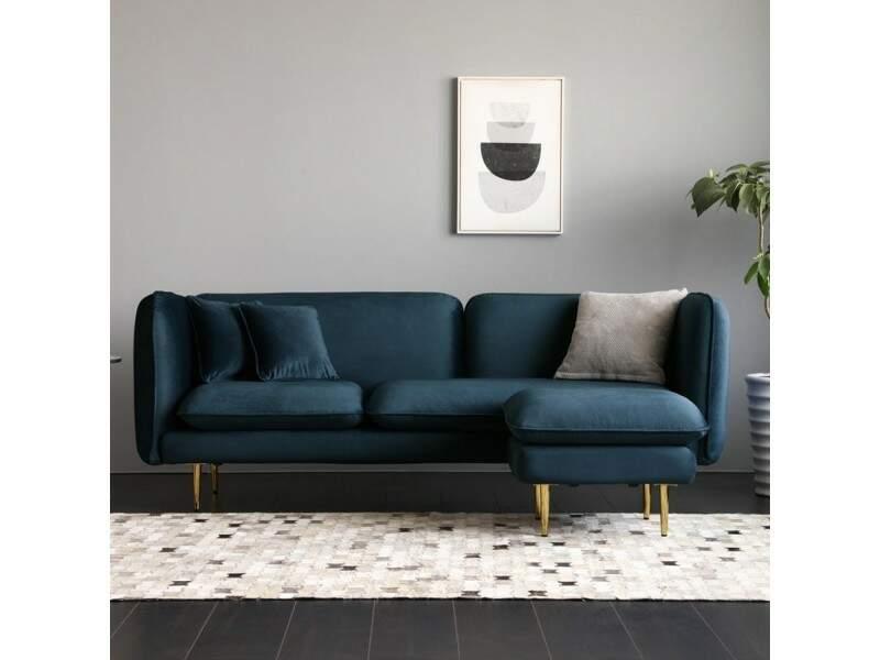 Canapé bleu tout confort - Conforama