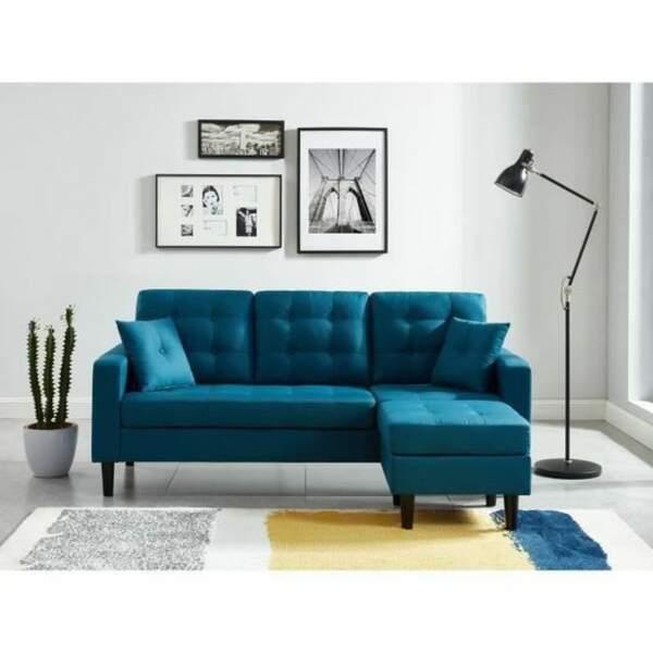 Ambiance simple pour votre salon bleu - Cdiscount