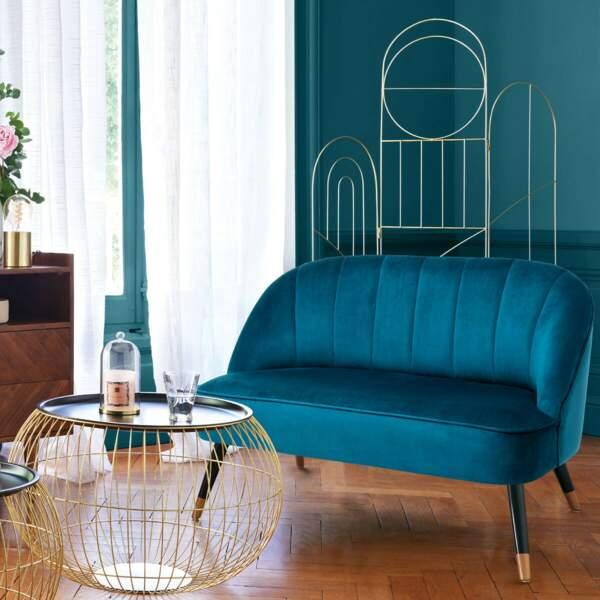 Salon bleu chic et moderne - Atmosphera