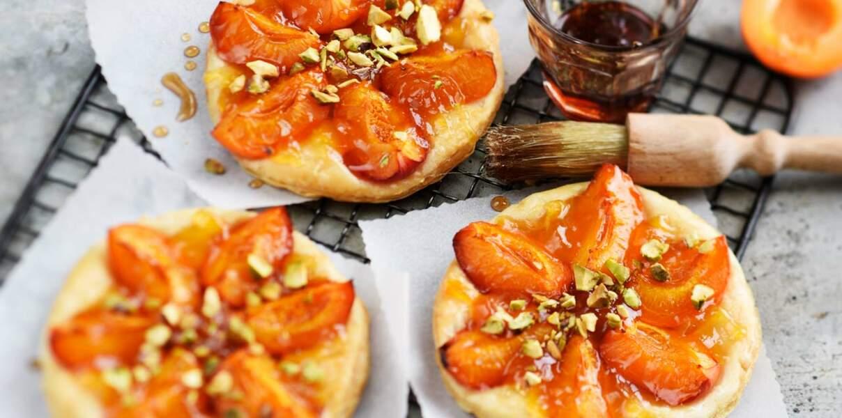 Tartelettes abricots, pistaches et balsamique