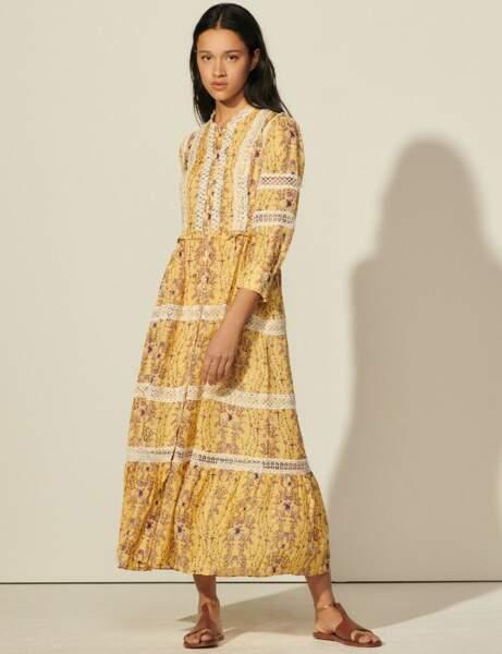 Robes bohème : jaune