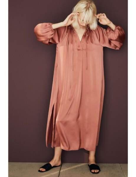 Robes bohème : en satin