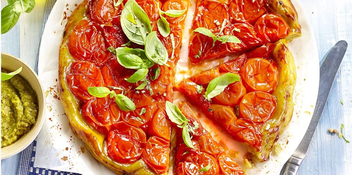 Tatin pesto-tomates