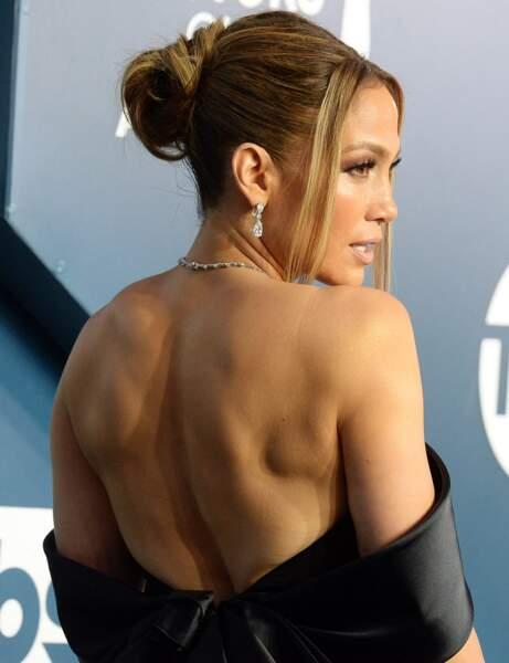 Le chignon chic de Jennifer Lopez