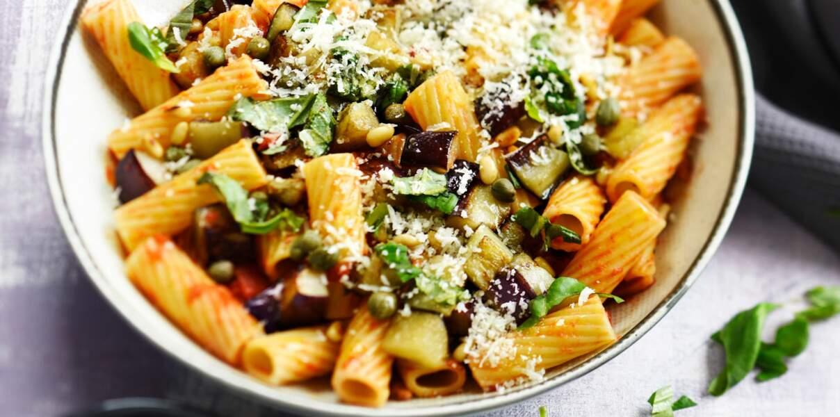 Rigatoni à l'aubergine et parmesan