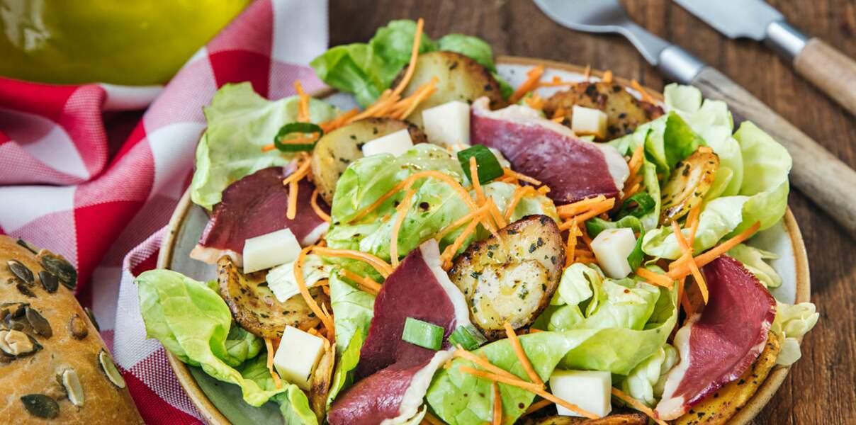 Salade landaise de laitue & de carottes râpées