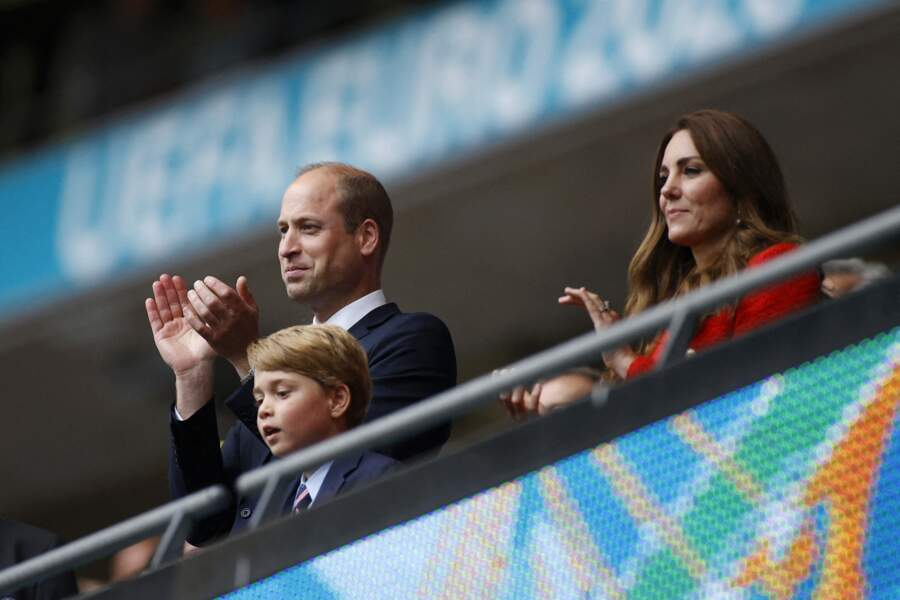 Le prince William, Kate Middleton et leur fils George