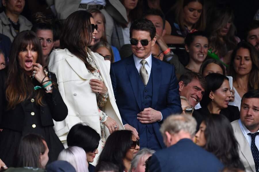 Tom Cruise et Hayley Atwell, dans les tribunes de Wimbledon.