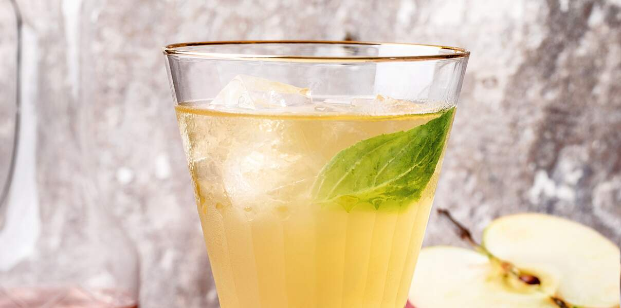 Mocktail thé jasmin pomme
