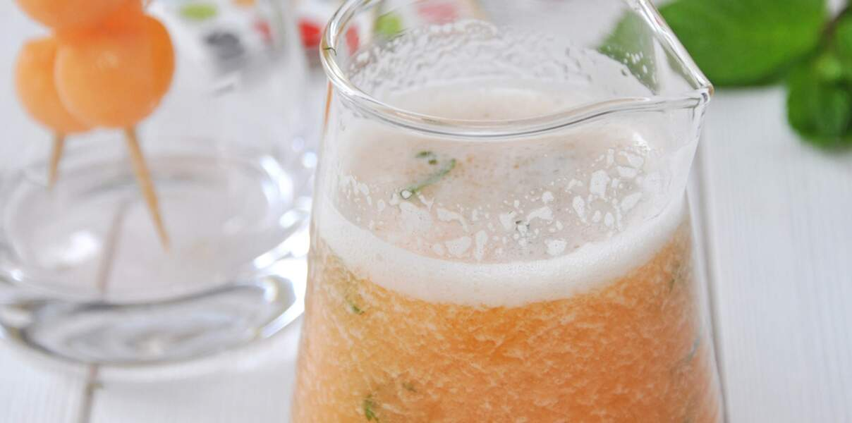 Mocktail antigaspi melon de nos régions, citron et menthe