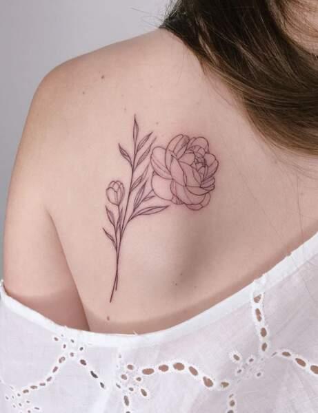 Une rose élégante