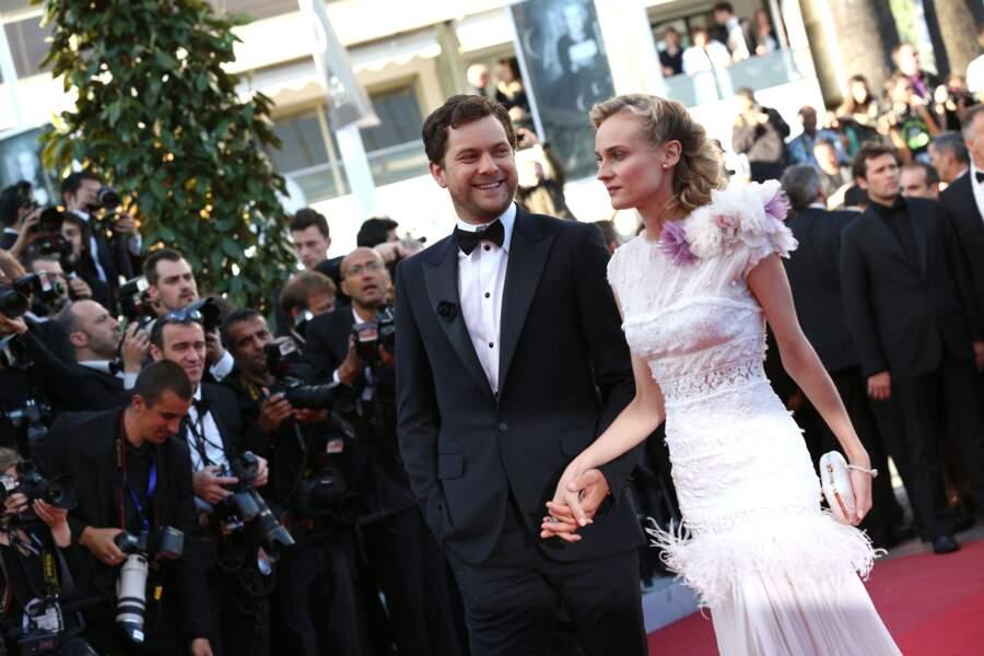 """Diane Kruger et Joshua Jackson sur le tapis rouge du film """"Killing them softly"""", lors du 65e Festival du Film de Cannes, le 22 mai 2012."""