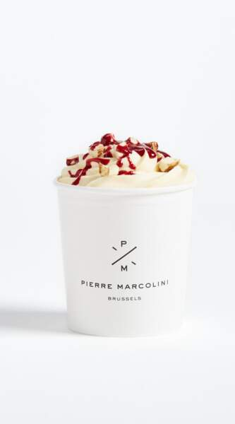 Pot de glace lait d'amande et framboise - Pierre Marcolini