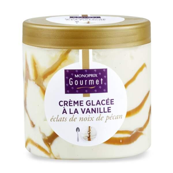 Crème glacée à la vanille et aux éclats de noix de pécan - Monoprix Gourmet
