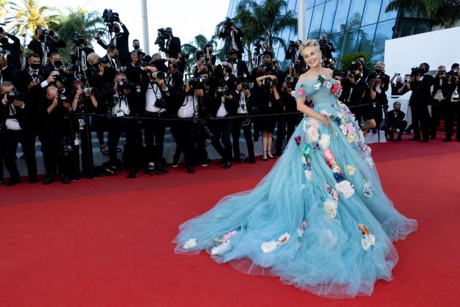 Cannes 2021 : Sharon Stone en robe de princesse