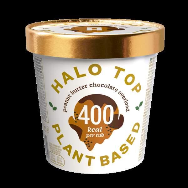 Pot de glace beurre de cacahuètes et chocolat - Halo Top