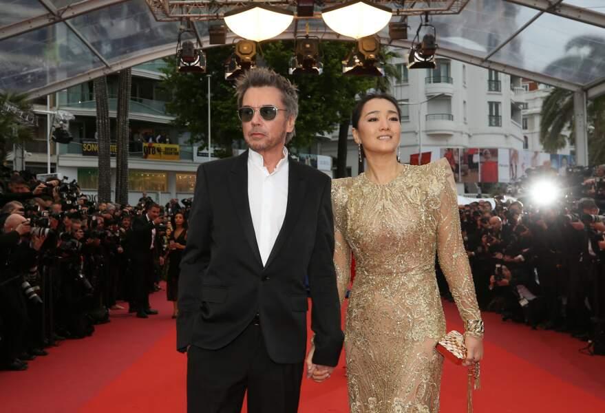 ... Jean-Michel Jarre et sa compagne, l'actrice Gong Li...