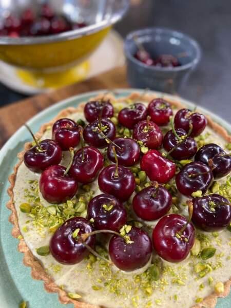 Tarte cerise-pistache : la recette d'été facile et colorée de Laurent Mariotte