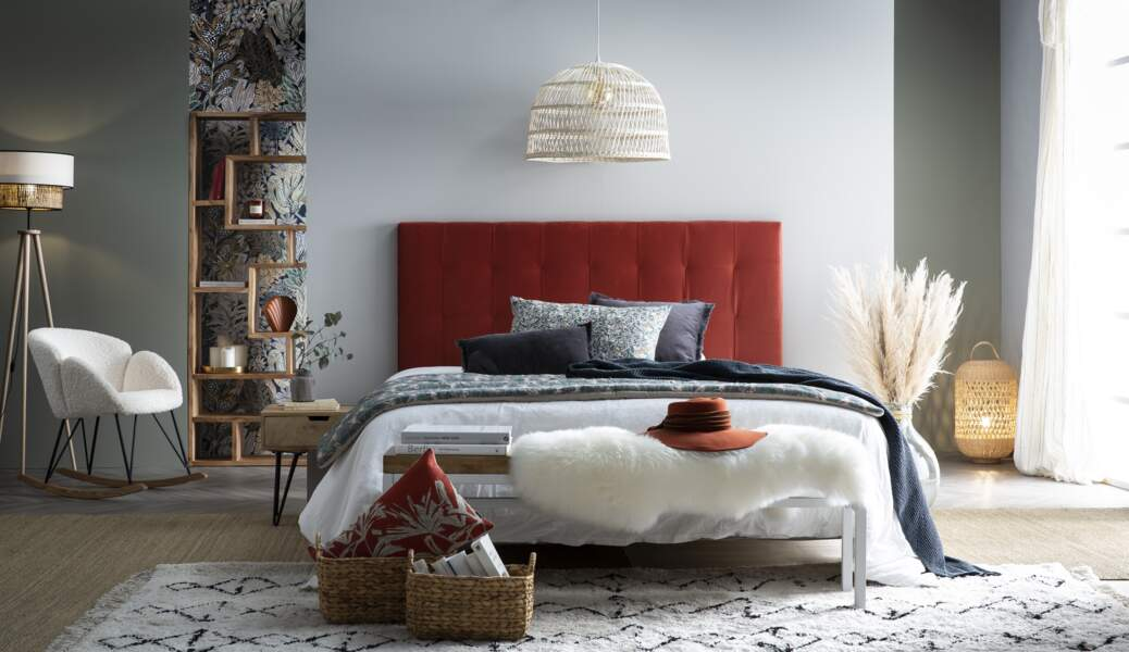 Chambre à coucher mi hygge mi bohème - Miliboo