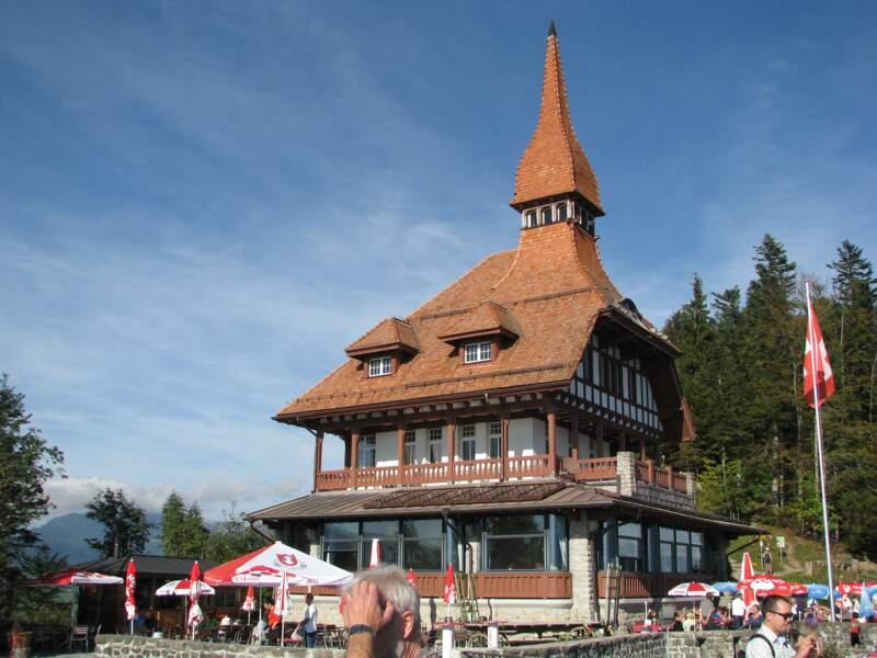 Le restaurant Harder Kulm au-dessus d'Interlaken