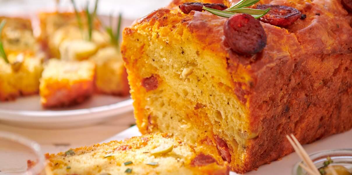 Cake au yaourt et chorizo