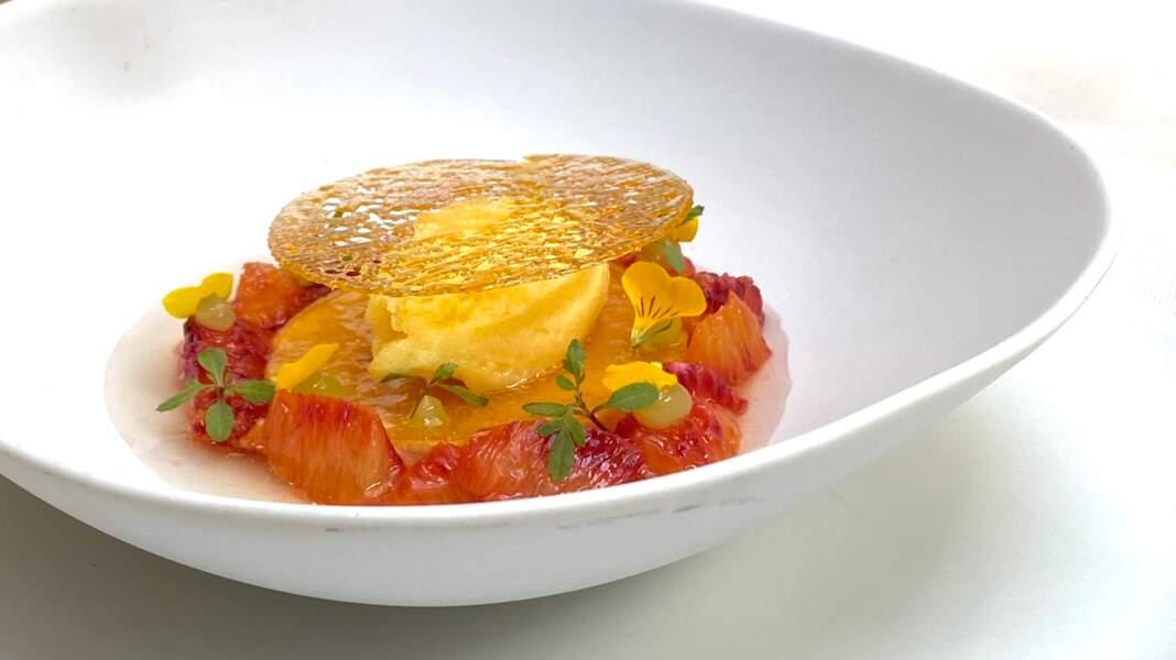 Crème caramel comme l'aimait Papy Marco à l'orange Dom Pacello Royal Orange® Massenez